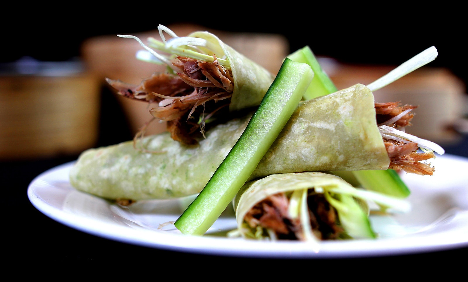 Crispy Aromatic Duck with Pancakes
