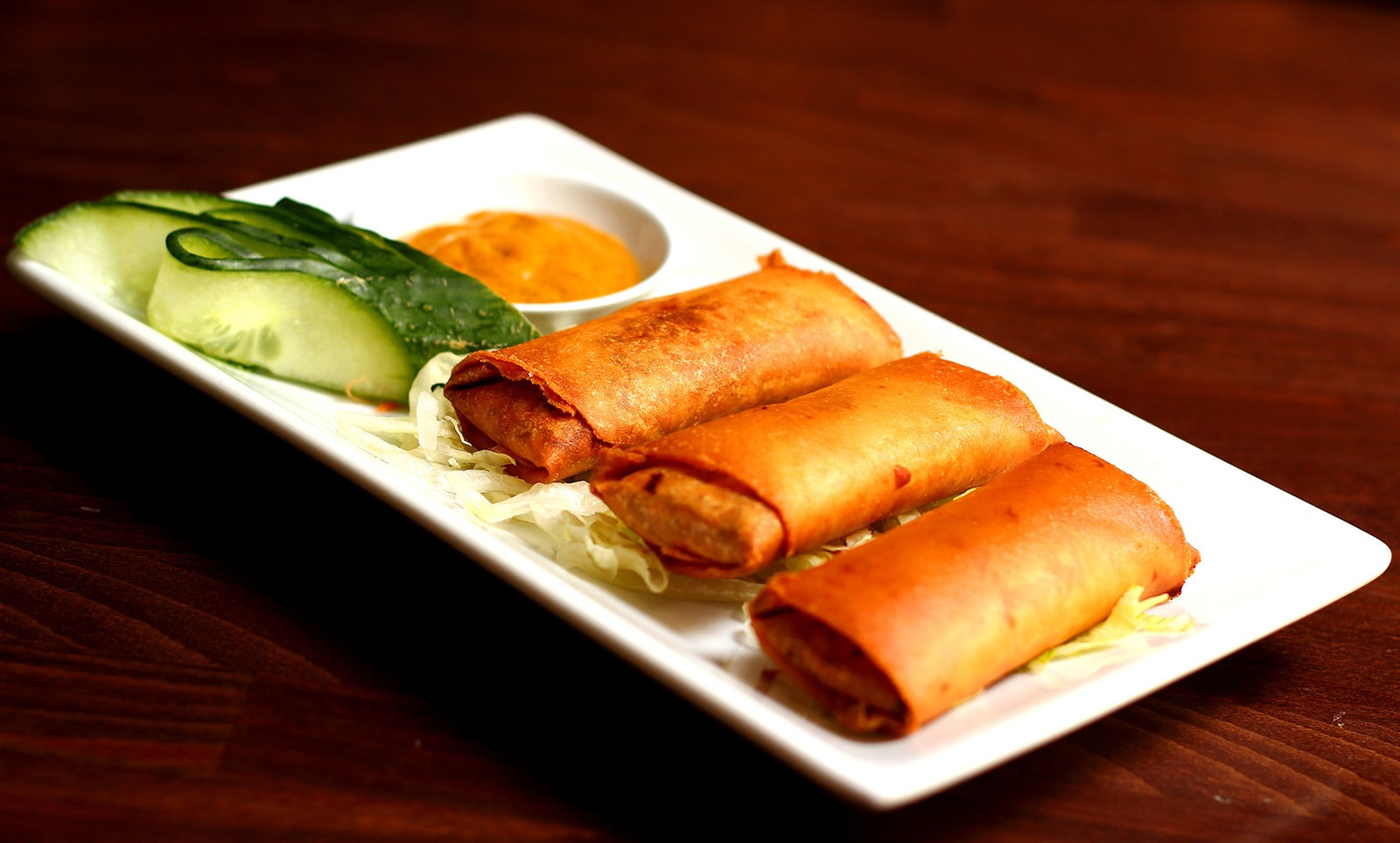 Curried Chicken Spring Rolls
